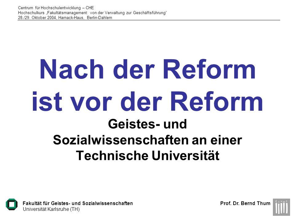 Nach der Reform ist vor der Reform