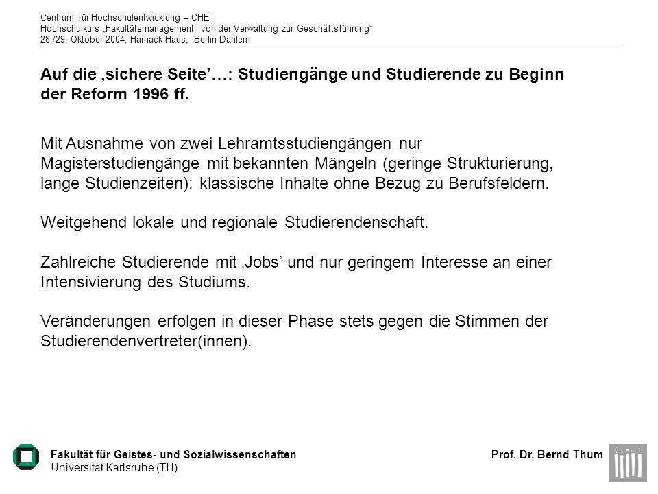 Weitgehend lokale und regionale Studierendenschaft.