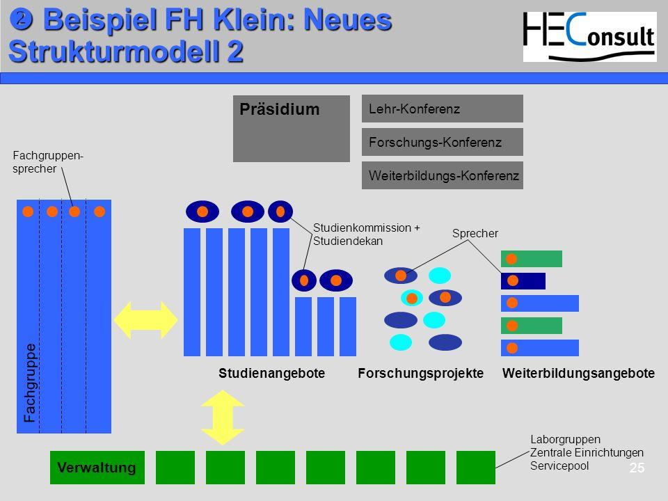  Beispiel FH Klein: Neues Strukturmodell 2