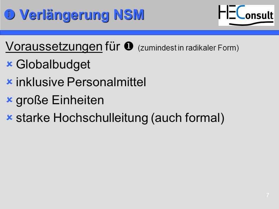  Verlängerung NSM Voraussetzungen für  (zumindest in radikaler Form)