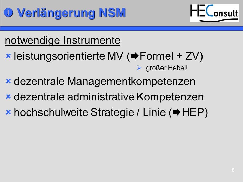  Verlängerung NSM notwendige Instrumente
