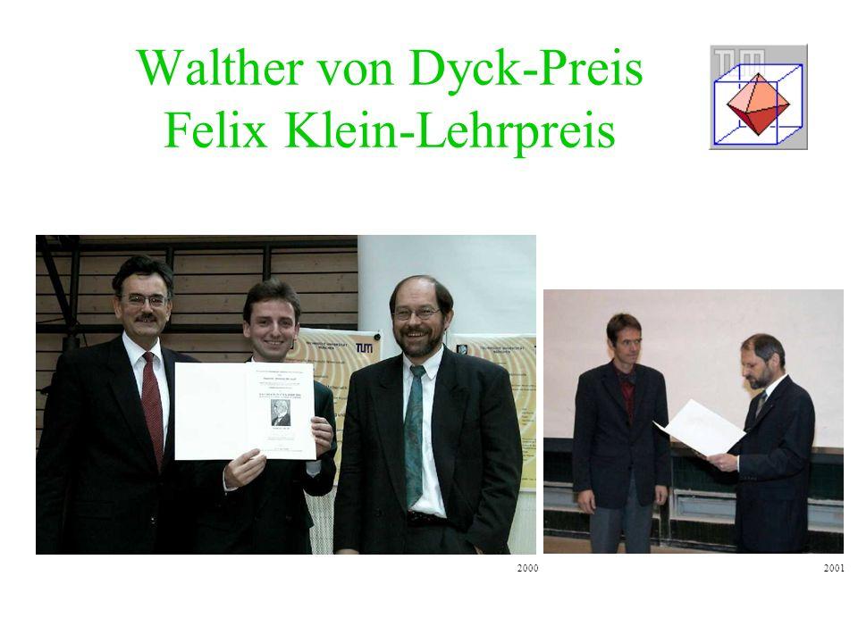 Walther von Dyck-Preis Felix Klein-Lehrpreis