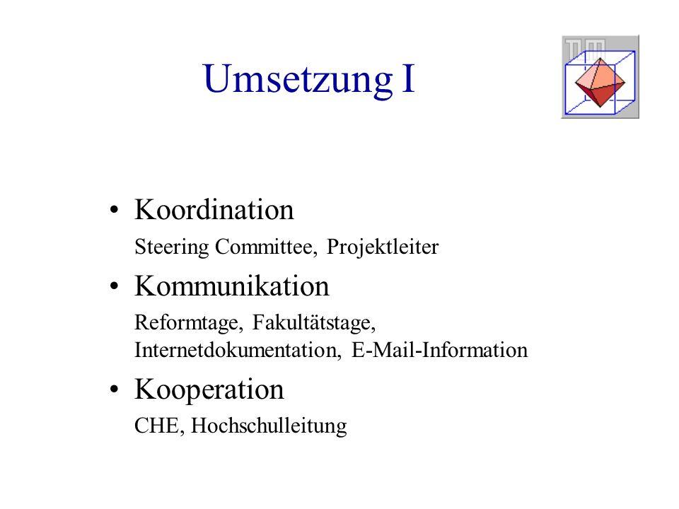 Umsetzung I Koordination Kommunikation Kooperation