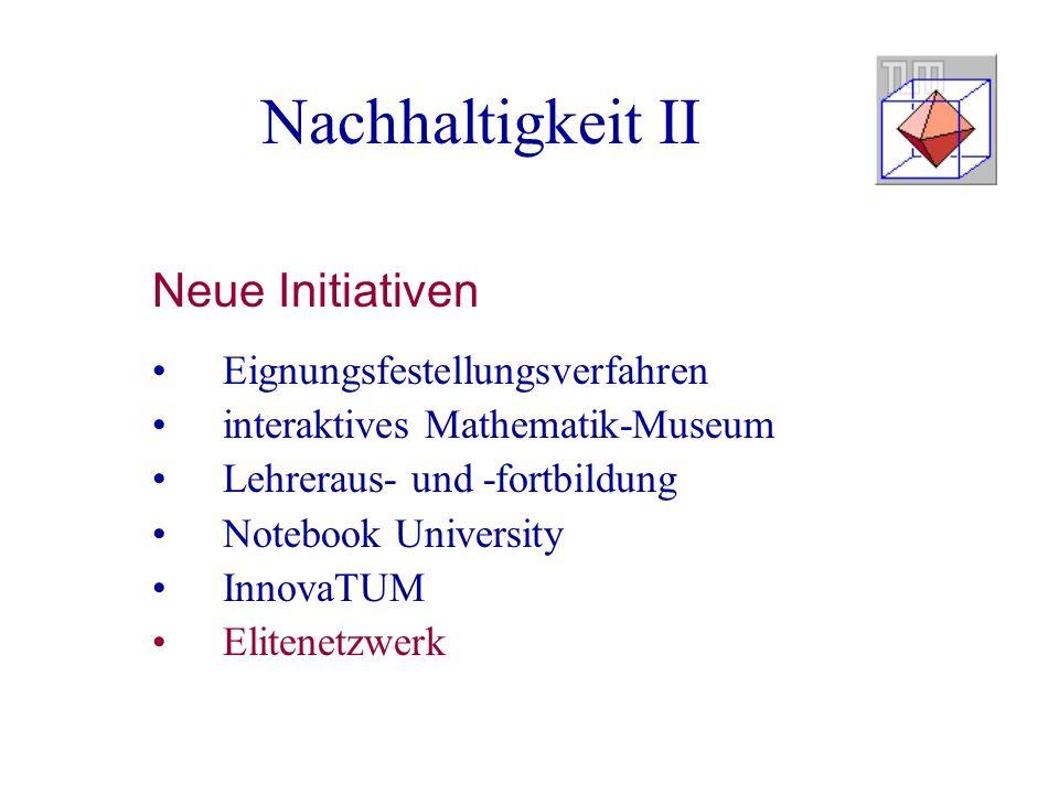 Nachhaltigkeit II Neue Initiativen Eignungsfestellungsverfahren