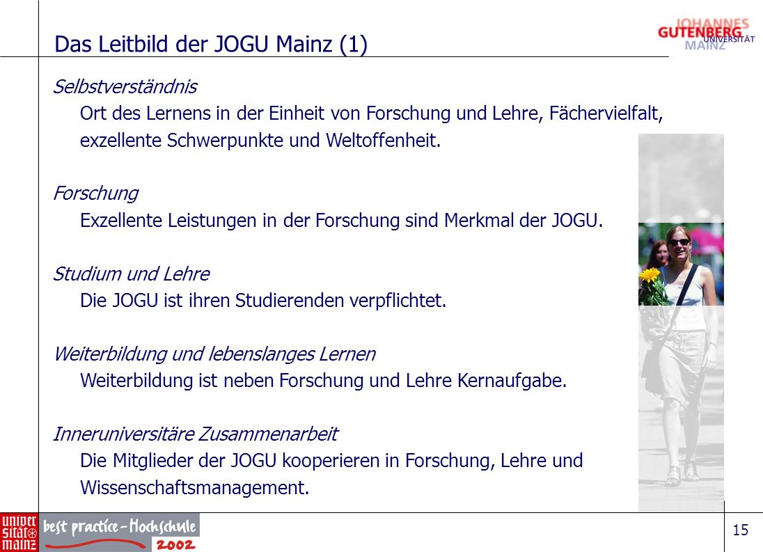 Das Leitbild der JOGU Mainz (1)