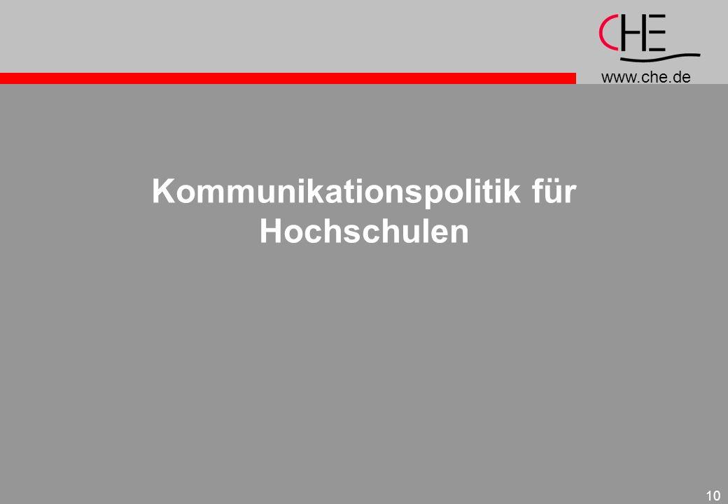 Kommunikationspolitik für Hochschulen