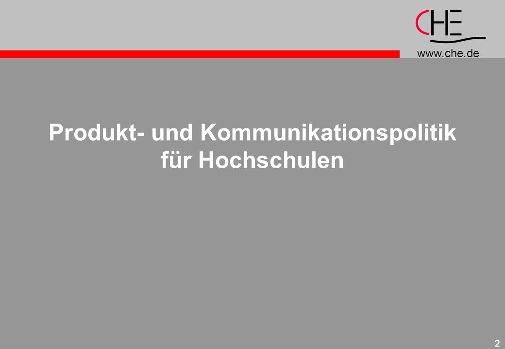 Produkt- und Kommunikationspolitik für Hochschulen