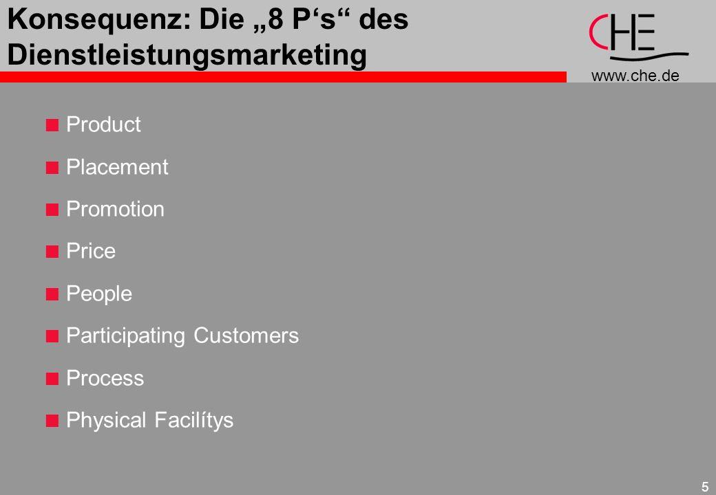"""Konsequenz: Die """"8 P's des Dienstleistungsmarketing"""