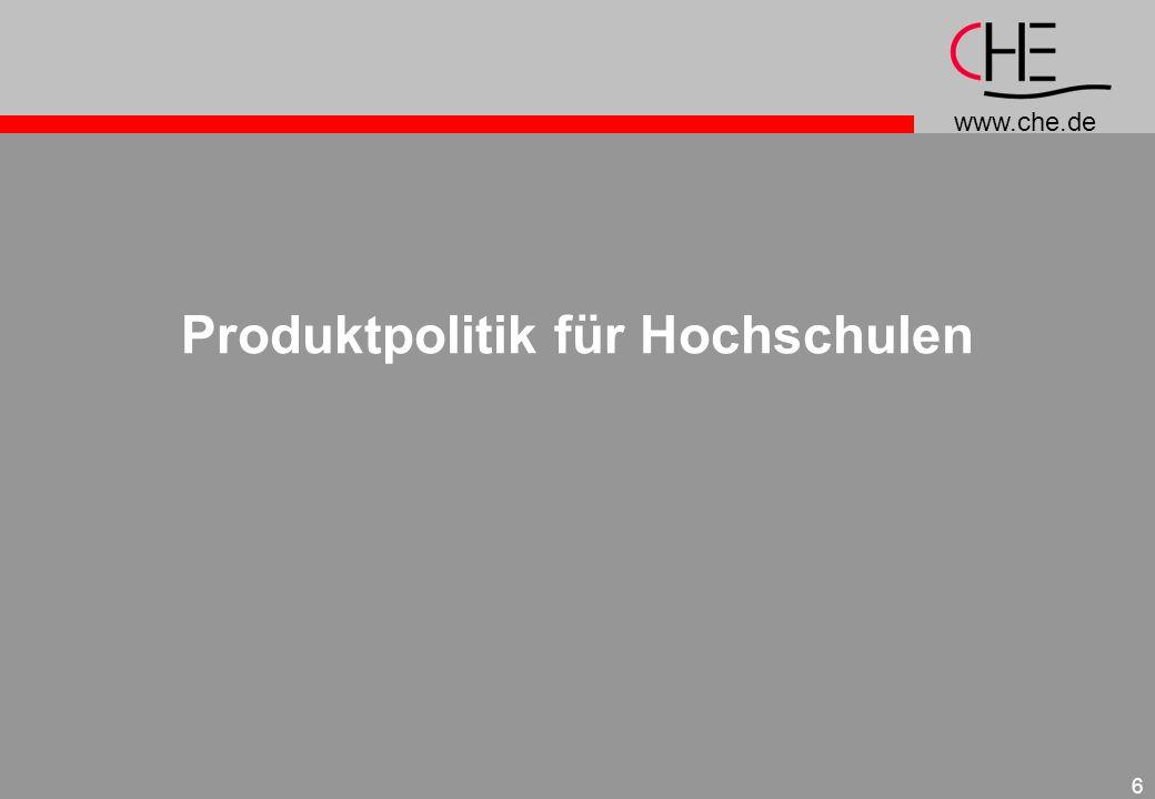 Produktpolitik für Hochschulen