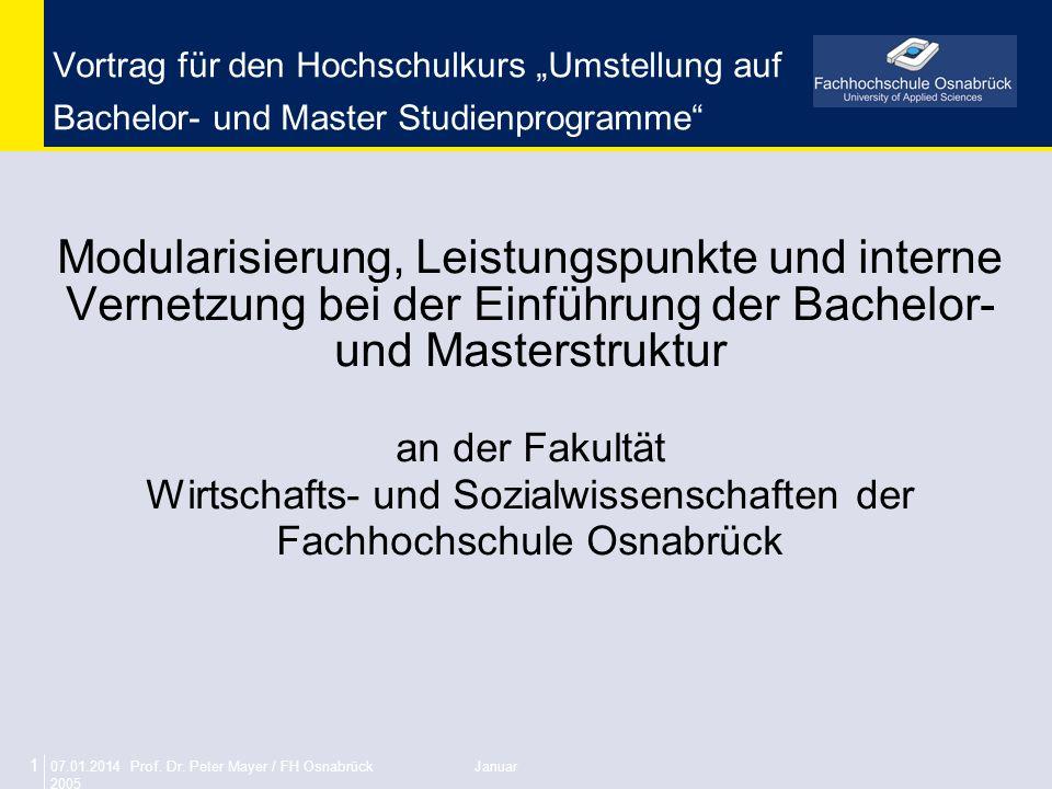 Wirtschafts- und Sozialwissenschaften der Fachhochschule Osnabrück
