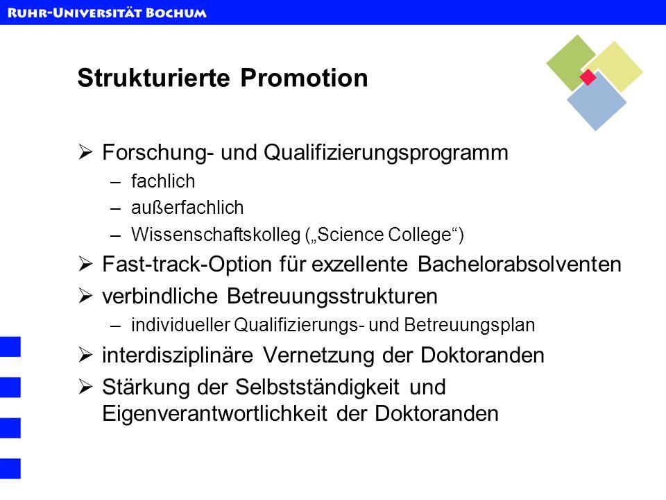 Strukturierte Promotion