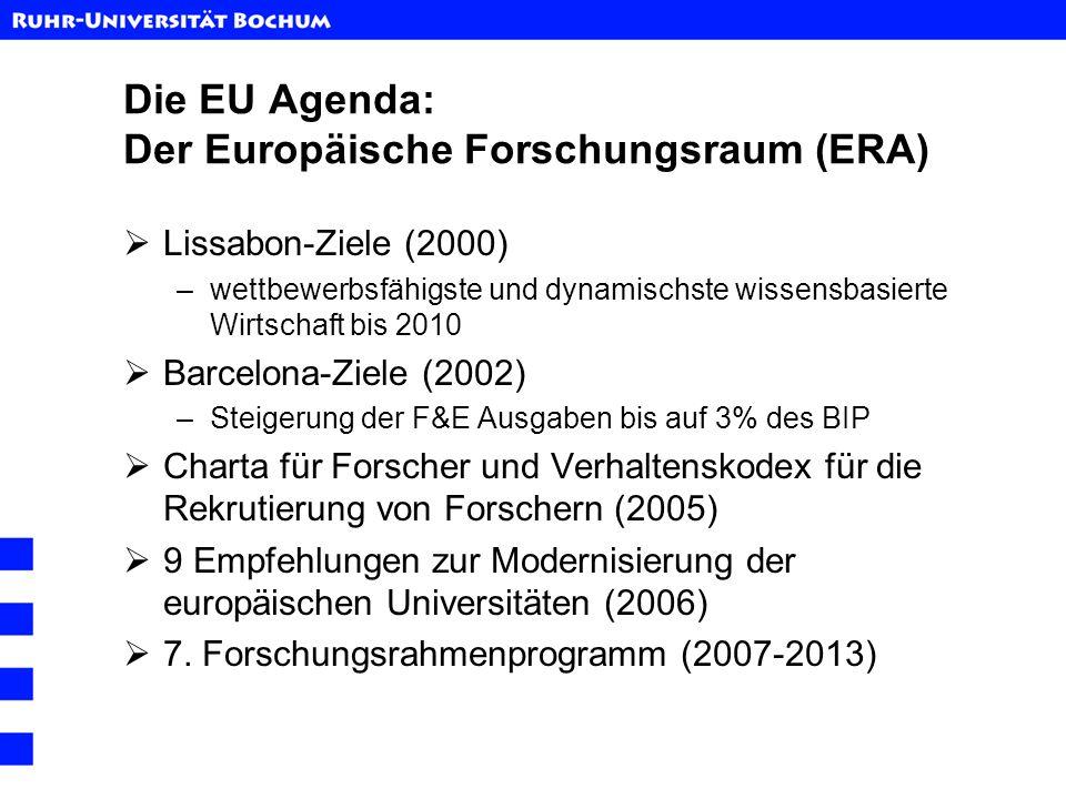 Die EU Agenda: Der Europäische Forschungsraum (ERA)