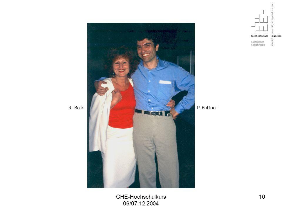 R. Beck P. Buttner CHE-Hochschulkurs 06/07.12.2004