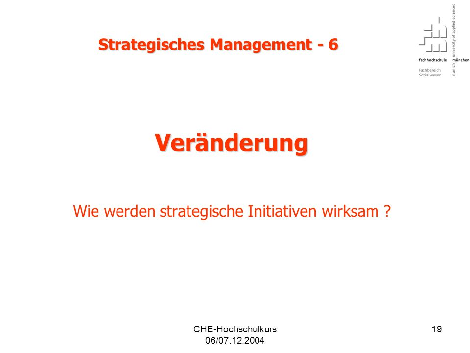 Strategisches Management - 6