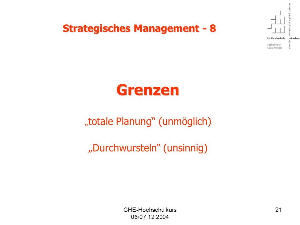 Strategisches Management - 8