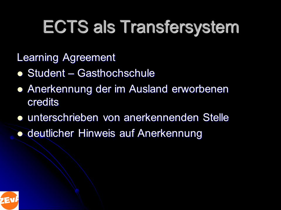 ECTS als Transfersystem
