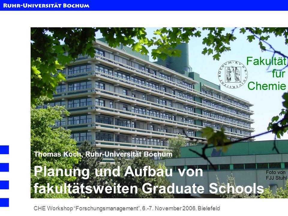 Planung und Aufbau von fakultätsweiten Graduate Schools