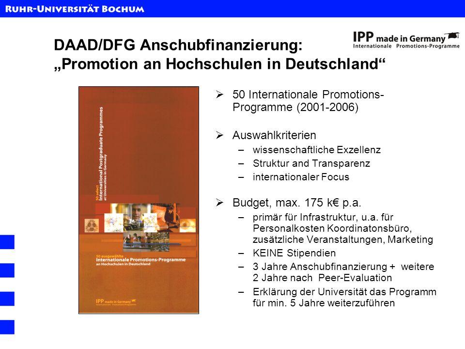 """DAAD/DFG Anschubfinanzierung: """"Promotion an Hochschulen in Deutschland"""