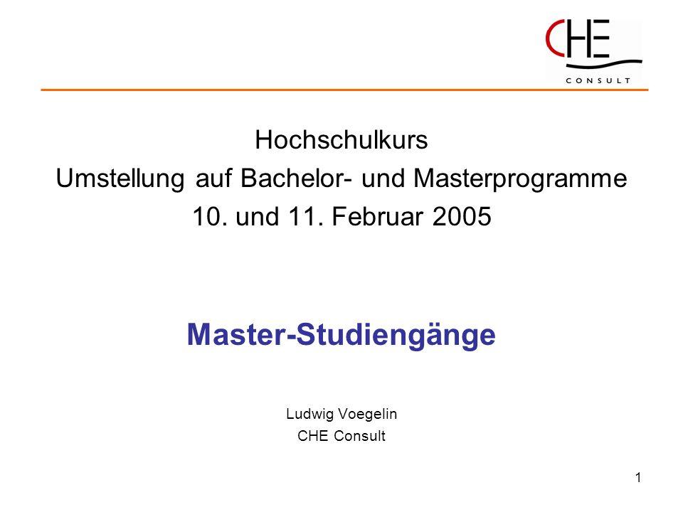 Umstellung auf Bachelor- und Masterprogramme