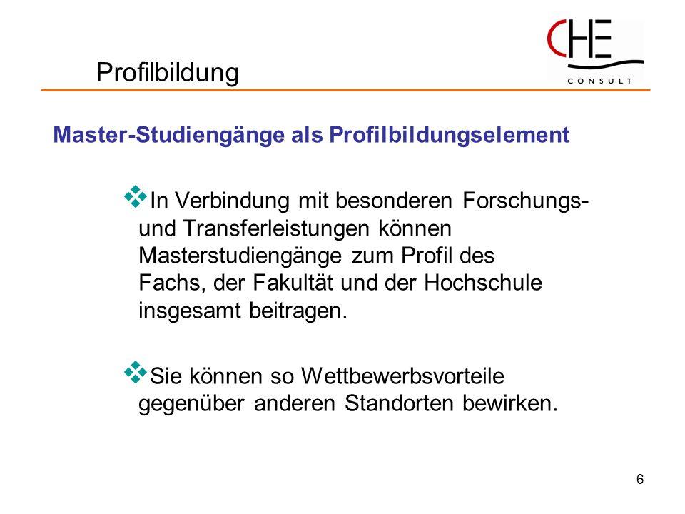 Profilbildung Master-Studiengänge als Profilbildungselement