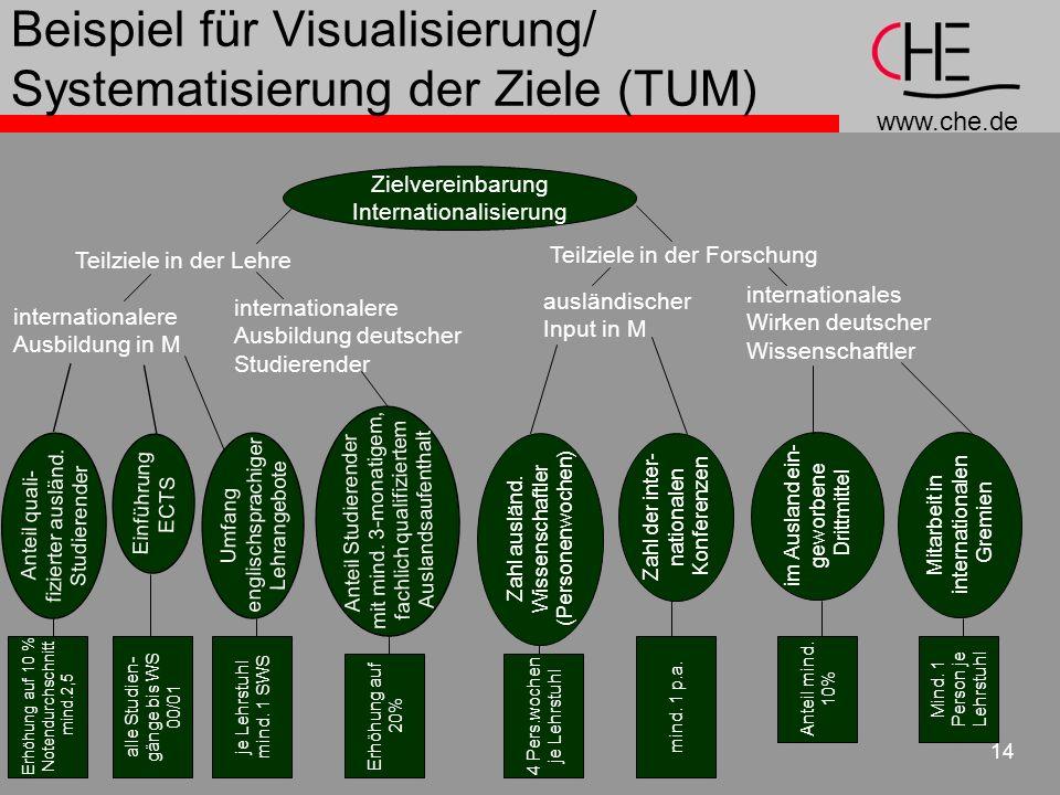 Beispiel für Visualisierung/ Systematisierung der Ziele (TUM)