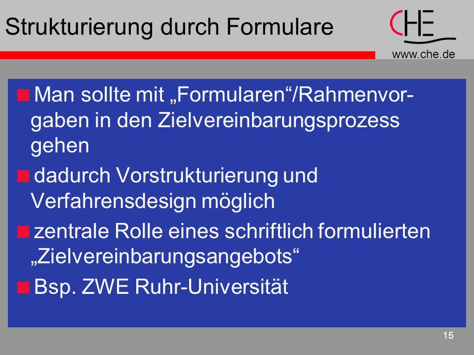 Strukturierung durch Formulare