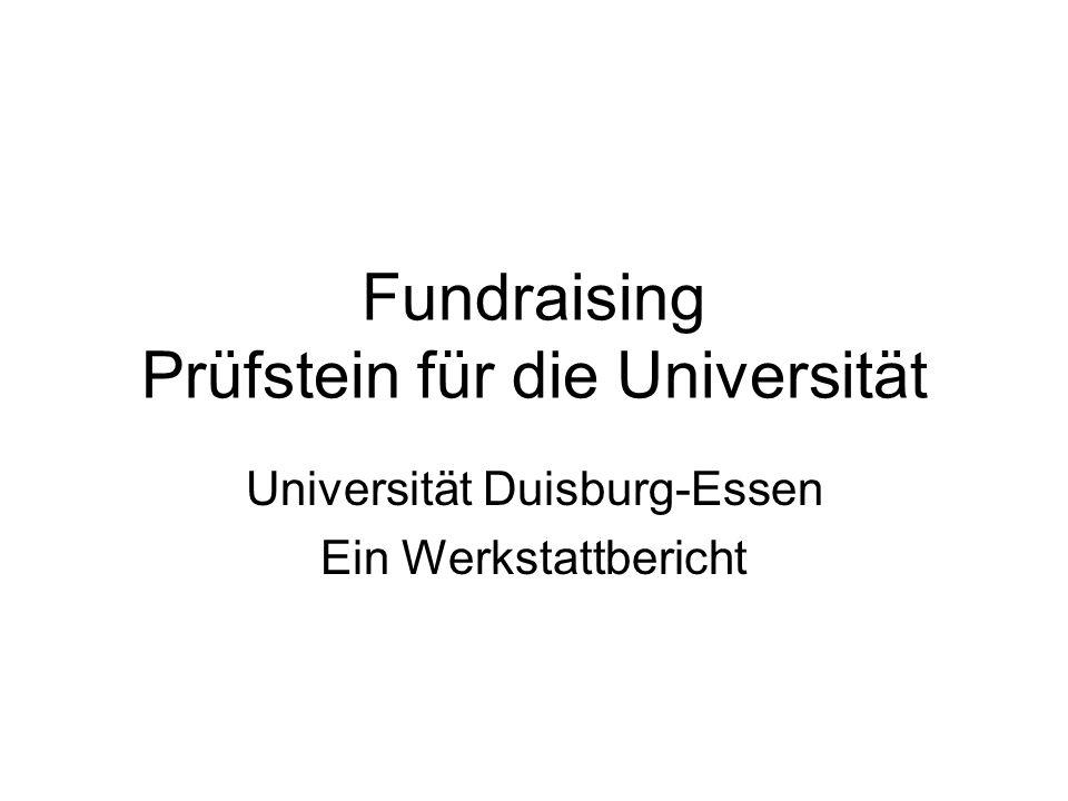 Fundraising Prüfstein für die Universität