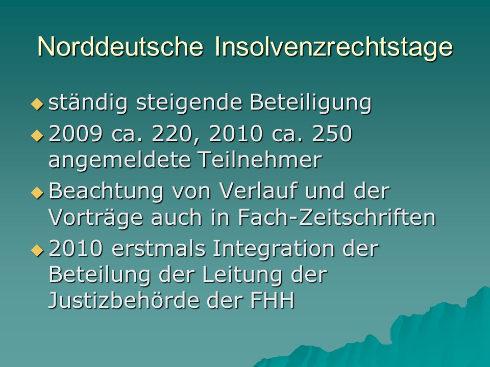 Norddeutsche Insolvenzrechtstage