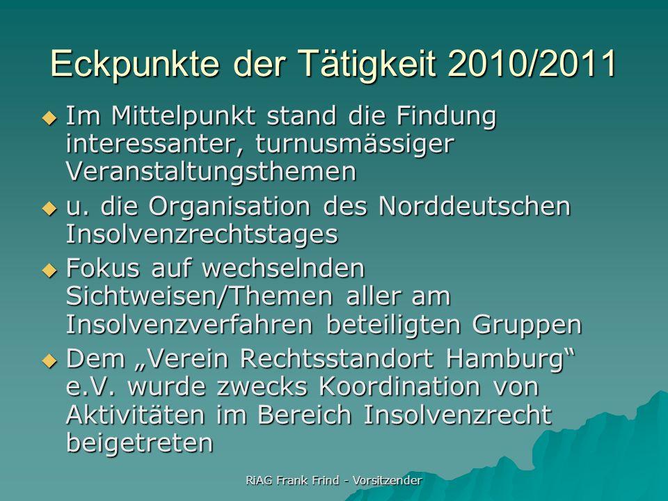 Eckpunkte der Tätigkeit 2010/2011