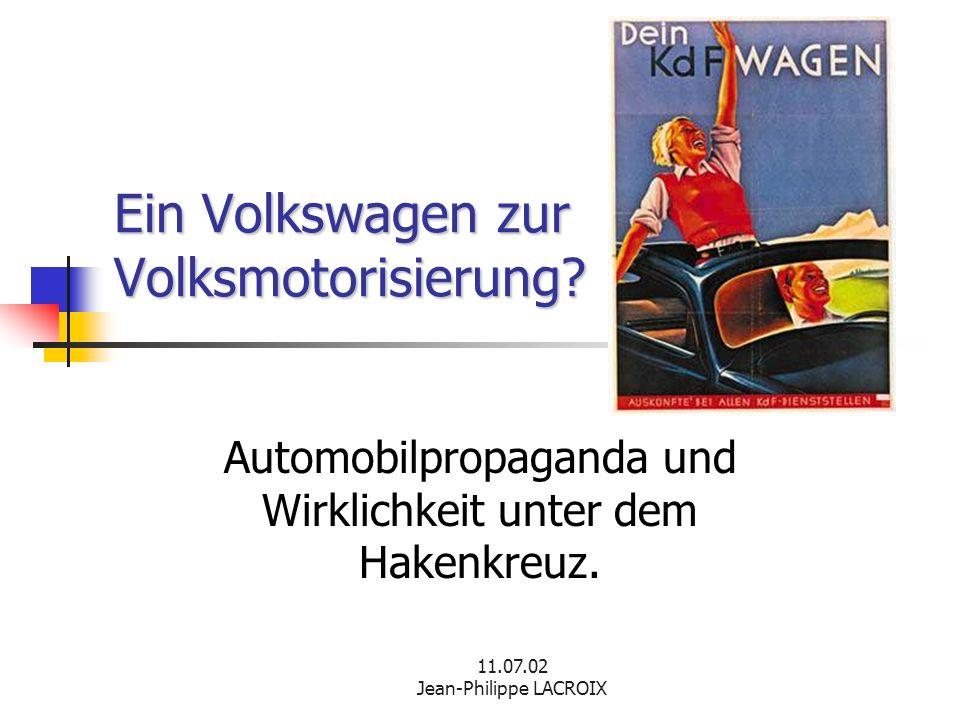 Ein Volkswagen zur Volksmotorisierung
