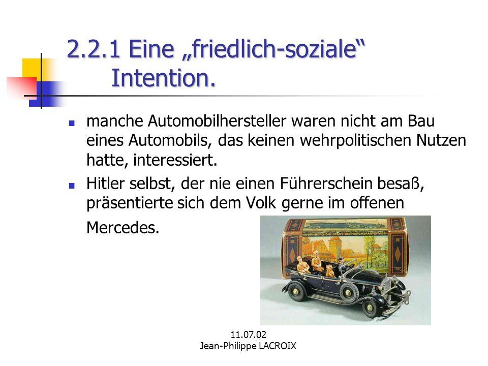 """2.2.1 Eine """"friedlich-soziale Intention."""