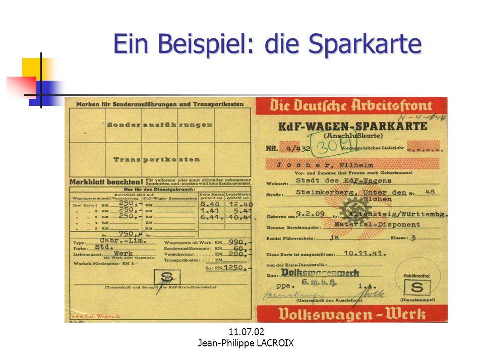 Ein Beispiel: die Sparkarte