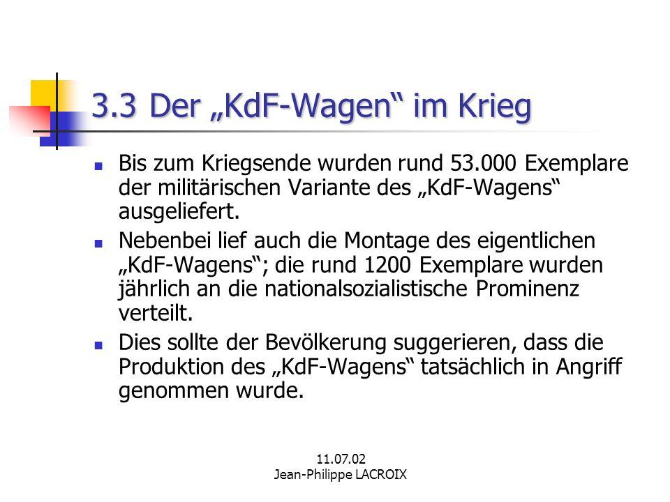 """3.3 Der """"KdF-Wagen im Krieg"""