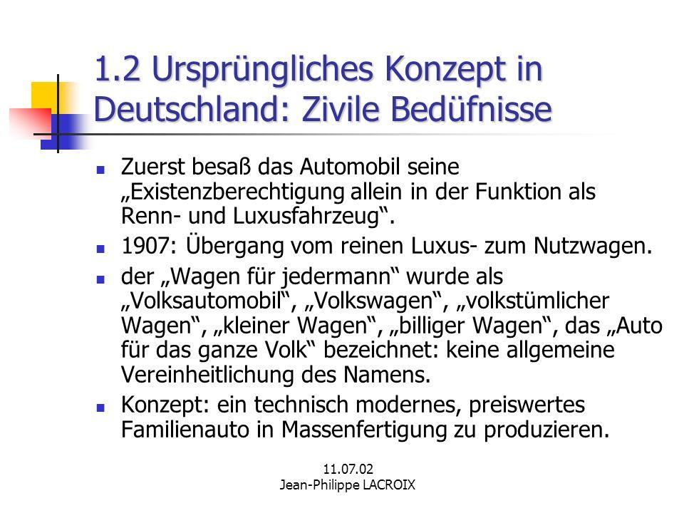 1.2 Ursprüngliches Konzept in Deutschland: Zivile Bedüfnisse