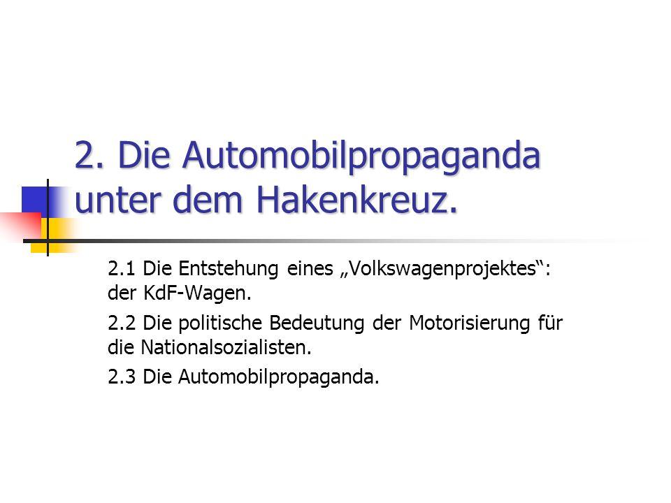 2. Die Automobilpropaganda unter dem Hakenkreuz.