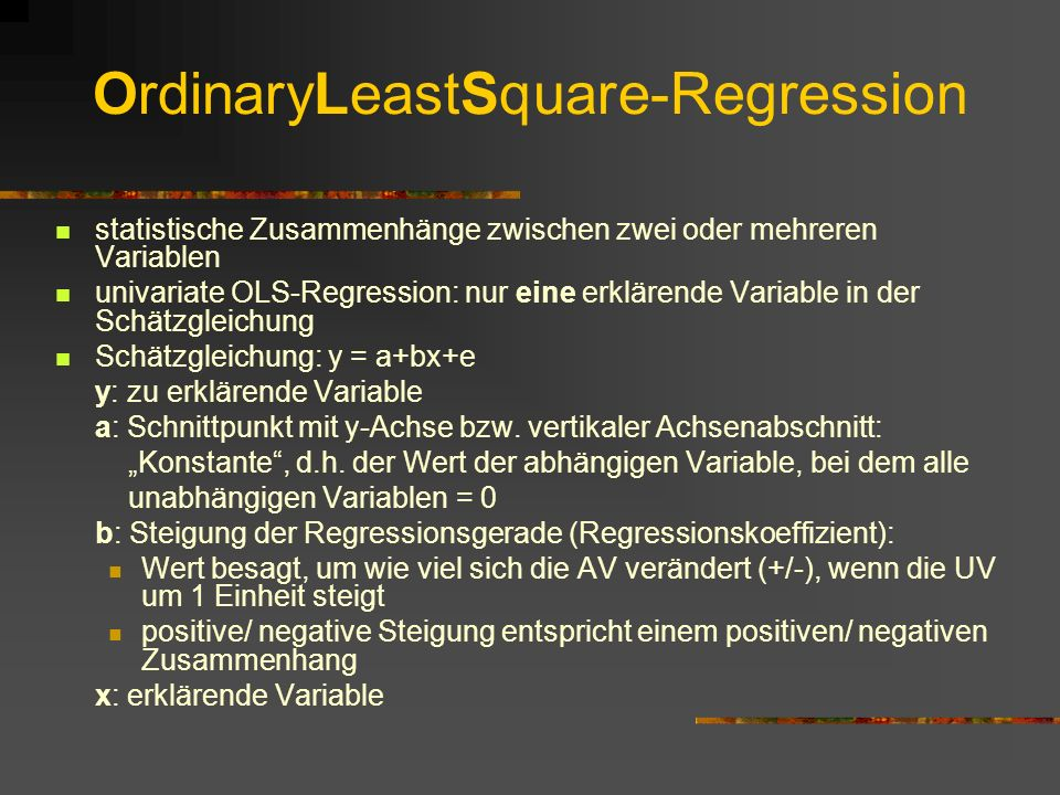 OrdinaryLeastSquare-Regression