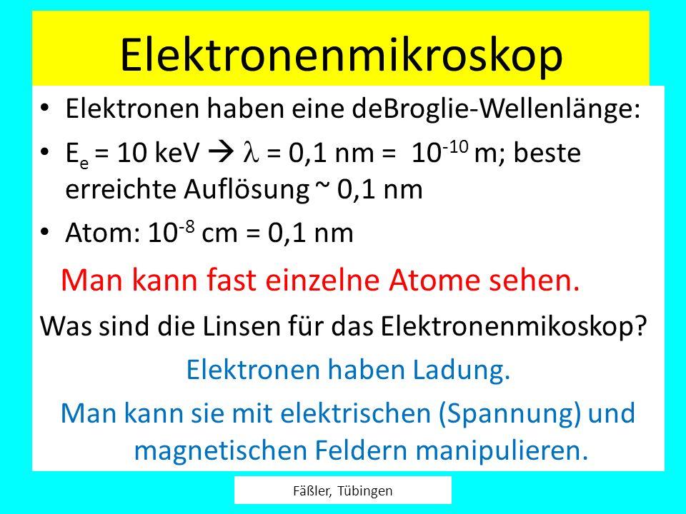 Elektronen haben Ladung.