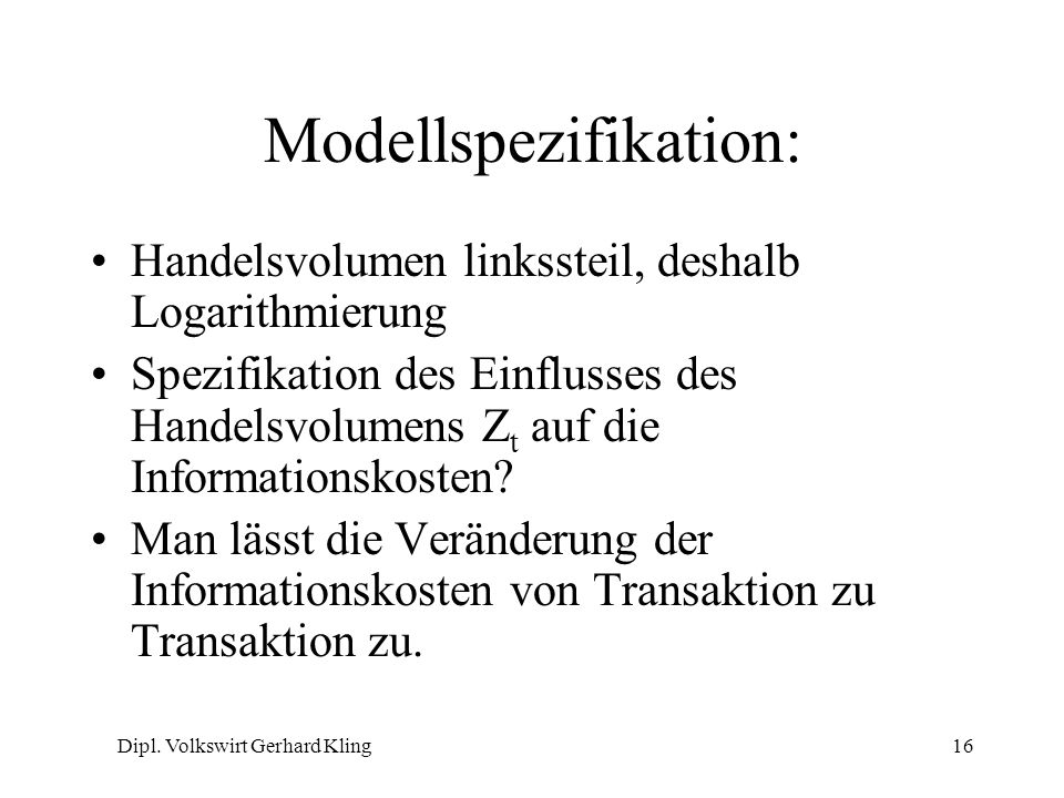 Modellspezifikation: