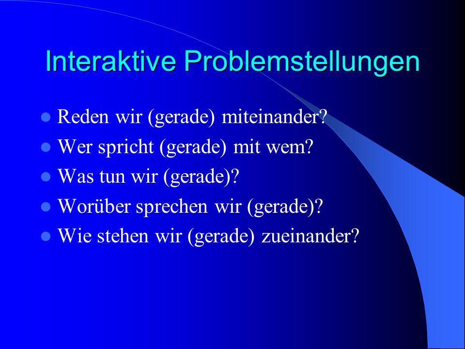 Interaktive Problemstellungen