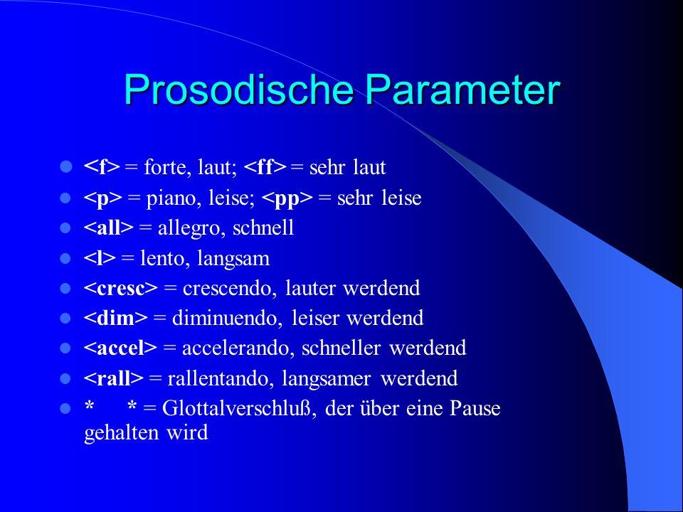 Prosodische Parameter