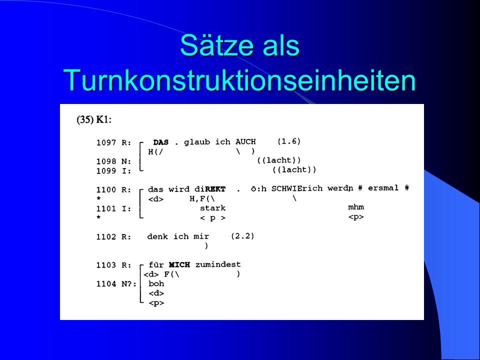 Sätze als Turnkonstruktionseinheiten