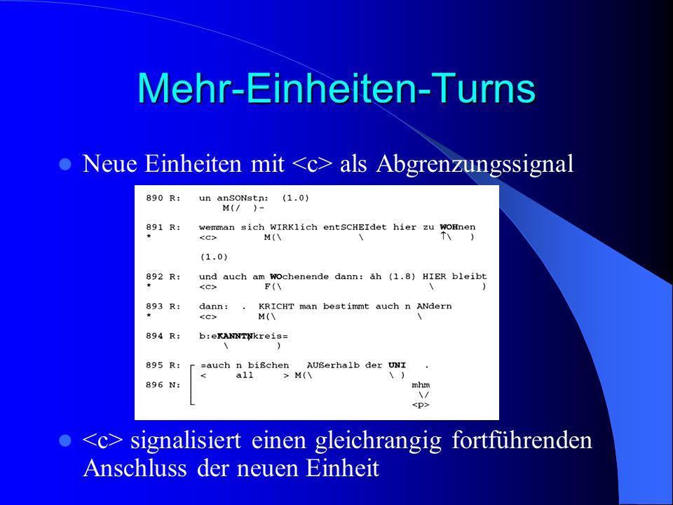 Mehr-Einheiten-Turns