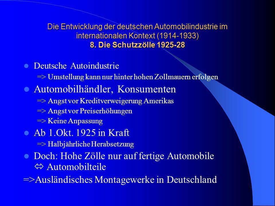 Automobilhändler, Konsumenten