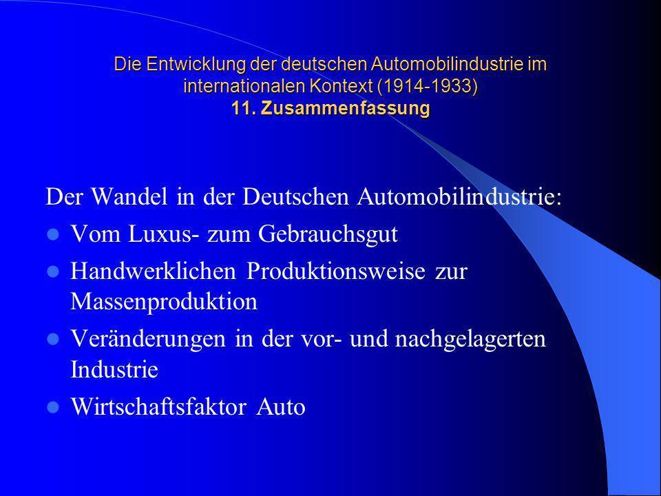 Der Wandel in der Deutschen Automobilindustrie: