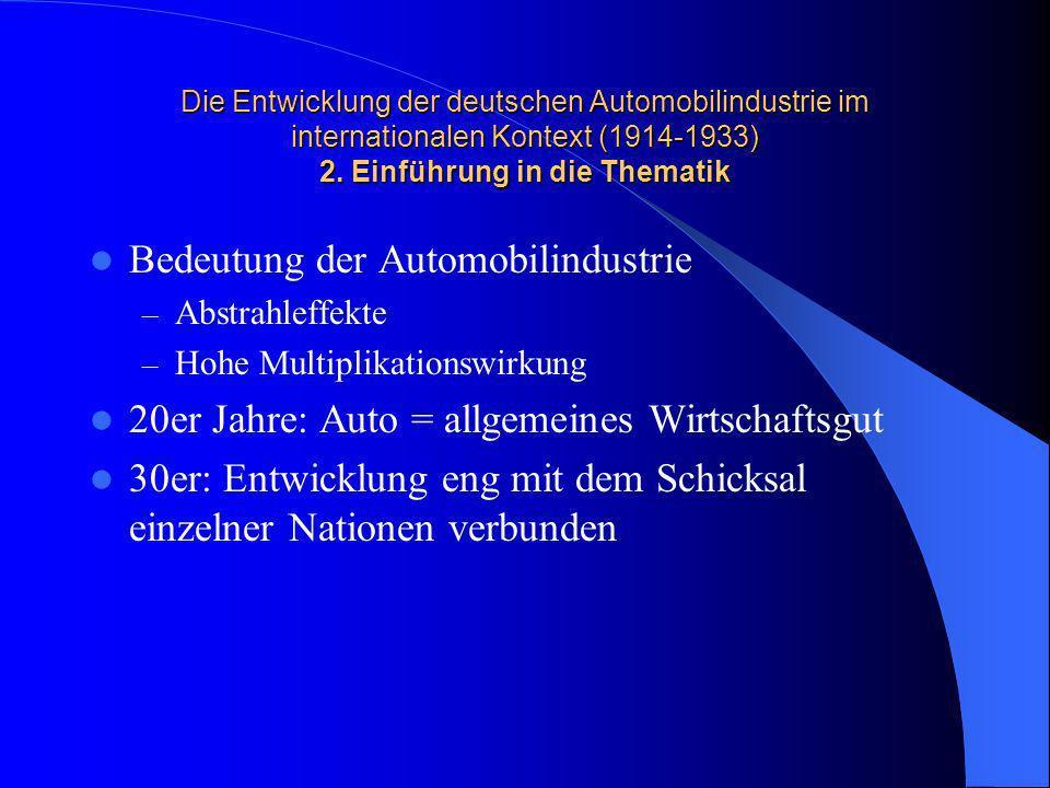 Bedeutung der Automobilindustrie