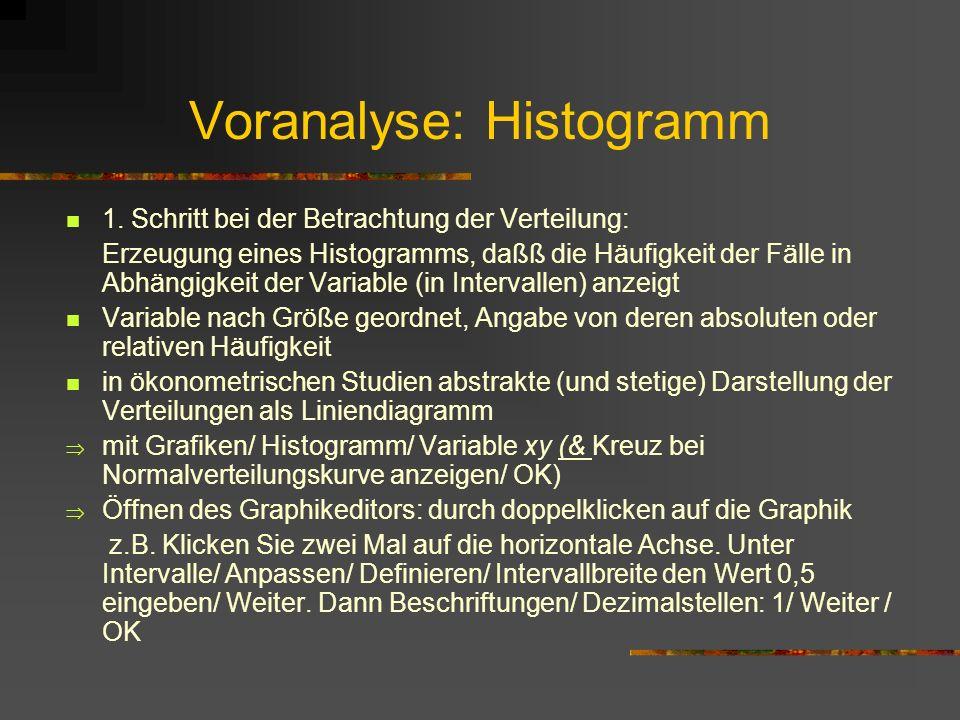 Voranalyse: Histogramm