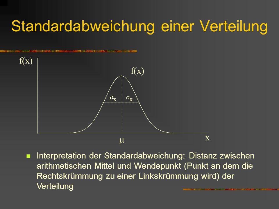 Standardabweichung einer Verteilung