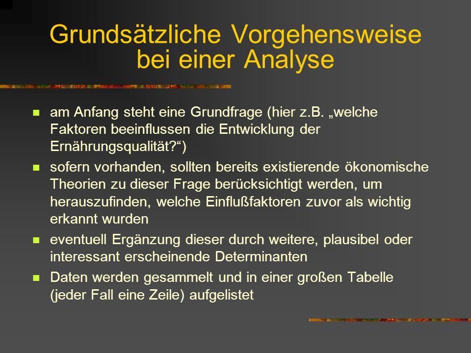 Grundsätzliche Vorgehensweise bei einer Analyse