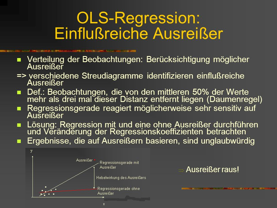 OLS-Regression: Einflußreiche Ausreißer