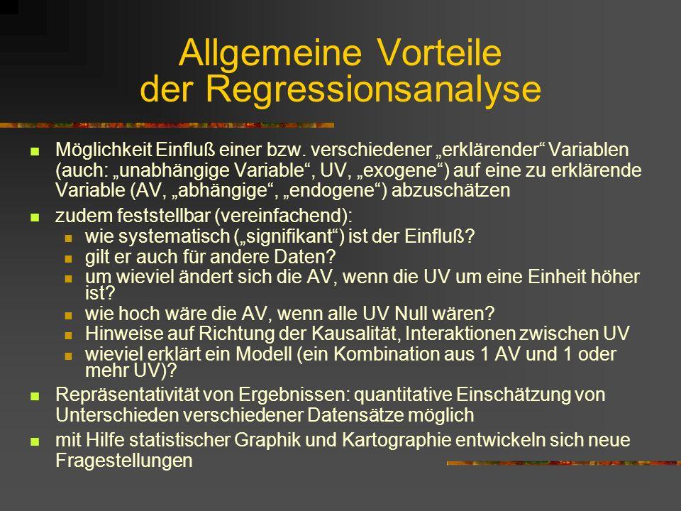 Allgemeine Vorteile der Regressionsanalyse